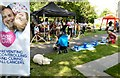 SJ8588 : Loose Change Buskers on Cheadle Green by Gerald England