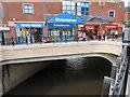 SJ8990 : Mersey from Lancashire Bridge by Gerald England