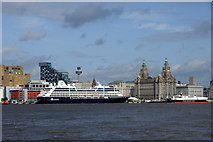 SJ3390 : Cruise ship Azamara Quest at the Pier Head from Seacombe by Mike Pennington