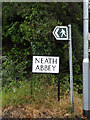 SS7397 : Neath Abbey sign by Geographer