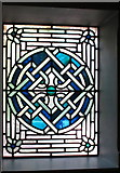 TQ2878 : Stained glass window, Celtic knot design, Cadogan Hall by David Hawgood