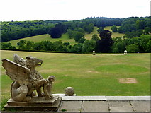 TQ1352 : The south lawn and the downs, Polesden Lacey by pam fray