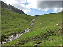 NN2445 : Waterfalls on the Allt Toaig in Coire Toaig by wrobison