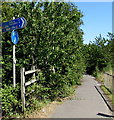 SP5721 : Cycle route distances from the south of Bicester by Jaggery