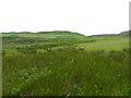 NM4783 : Marginal land above Galmisdale by Oliver Dixon