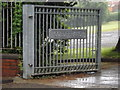SS7196 : Coedffranc Cemetery gate by Adrian Cable