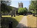 SP5822 : Path through St Edburg's churchyard, Bicester by Jaggery
