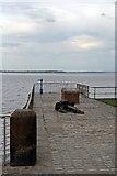 SJ3681 : Jetty, Eastham Ferry by El Pollock