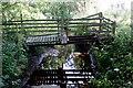 SJ6679 : Derelict footbridge by Anthony O'Neil