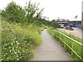 TQ3783 : Path off the Greenway to Marshgate Lane by Stephen Craven