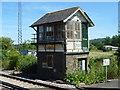 TR0447 : Disused signal box at Wye station by Marathon