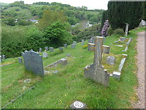 SS6644 : Christ Church, Parracombe: churchyard (vii) by Basher Eyre