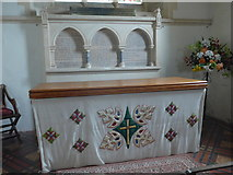 SS6644 : Christ Church, Parracombe: altar by Basher Eyre