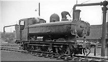 TQ2182 : Ex-GWR Pannier tank at Old  Oak Common Depot, 1962 by Ben Brooksbank