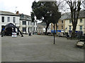 SX0766 : Forecourt of Bodmin Town Hall by Robin Stott