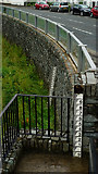 NY2623 : Flood Defences in Keswick by Peter Trimming
