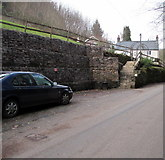 SO5206 : Bank reinforcement near Maes Llymysten, Whitebrook by Jaggery