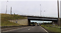 SK2929 : Overbridge at A50 junction by John Firth
