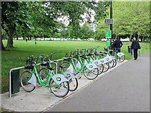 SJ3787 : City  Bike. rent  a  bike  stand  in  Sefton  Park by Martin Dawes