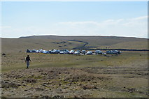 SD8965 : The Pennine Way and car park by N Chadwick