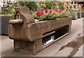TQ3281 : Metropolitan drinking fountain and cattle trough, London Wall by Julian Osley