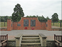 TG2312 : The War Memorial wall at Old Catton by Adrian S Pye
