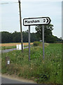 TG1523 : Roadsign on Buxton Road by Adrian Cable