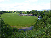 NY6820 : River Eden and Holme Farm by Oliver Dixon