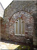 SX5646 : Detail of window surround in ruined church by David Smith
