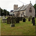 SO3909 : St Peter's church and churchyard, Bryngwyn, Monmouthshire by Jaggery