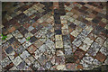 SN7465 : Strata Florida Abbey: tiled floor by Stephen McKay