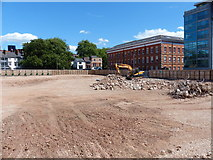 SK5804 : The site of the former New Walk Centre by Mat Fascione