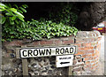 TG2115 : Crown Road sign by Adrian Cable