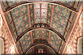 TQ2375 : All Saints, Putney Common - Nave roof by John Salmon