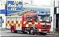 J4974 : Fire appliance, Newtownards - July 2015 (2) by Albert Bridge