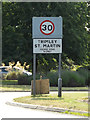 TM2737 : Trimley St.Marting Village Name sign on Howlet Way by Adrian Cable