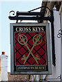 SO8463 : Cross Keys (2) - sign, Ombersley, Worcs by P L Chadwick