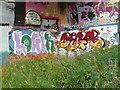 SE0922 : A new exhibit at the Salterhebble graffiti art gallery - 1 by Humphrey Bolton