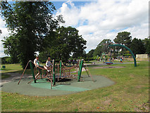 SJ6855 : Queen's Park: playground (2) by Stephen Craven