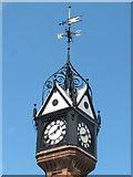 SJ6855 : Queen's Park: clock tower detail by Stephen Craven