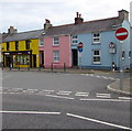 SM9801 : Colourful buildings in East End Square, Pembroke by Jaggery
