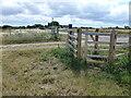 TL0794 : Footpath gate near Lyveden Farm by Richard Humphrey