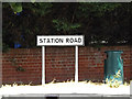 TM1349 : Station Road sign by Adrian Cable