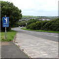 SM9800 : Escape lane sign alongside St Daniel's Hill, Pembroke by Jaggery