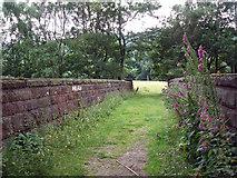 SK2479 : Footbridge over Manchester to Sheffield Rail line by Stephen Burton