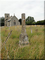 TG0039 : One of the many old free-standing preaching crosses in Norfolk by Adrian S Pye