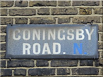 TQ3187 : Old sign for Coningsby Road, N4 by Mike Quinn