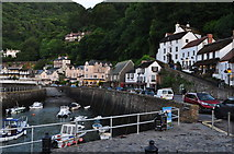 SS7249 : Lynmouth : Village Scenery by Lewis Clarke