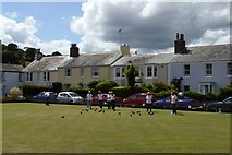 SX9372 : Bowling green in Shaldon by David Smith