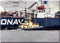 SJ3389 : Tug Boat Svitzer Bidston in River Mersey by David Dixon
